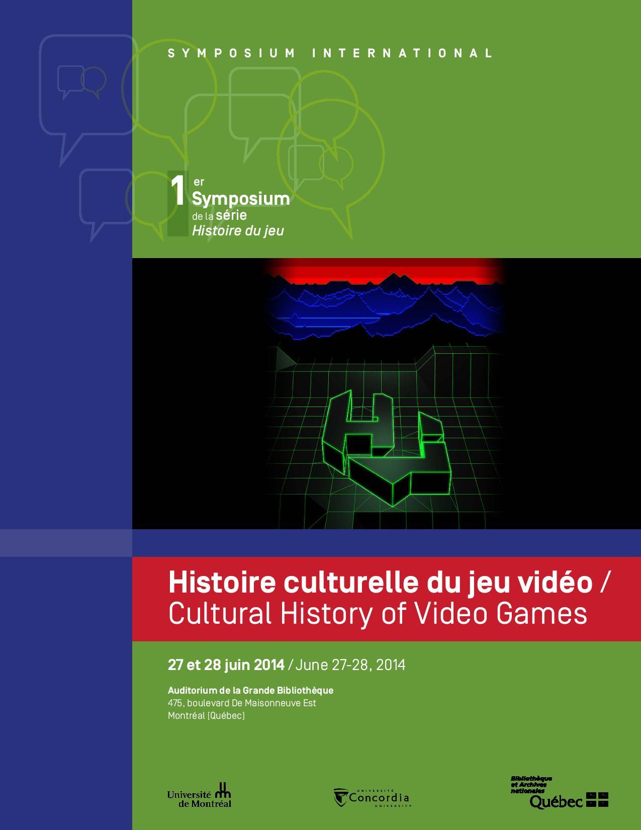 Histoire culturelle du jeu vidéo